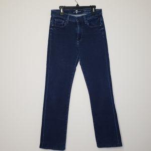 7 for all mankind high waist straight leg jeans